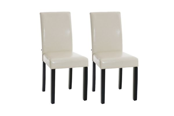 Set 2x Sillas de Comedor Ina ~ Base Negra