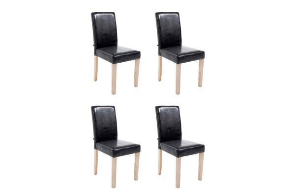 Set De 4 Sillas De Comedor Ina Madera Natural