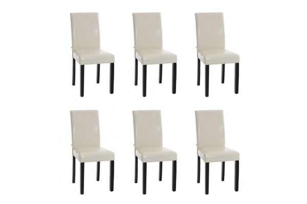 Set 6x Sillas de Comedor Ina ~ Base Negra