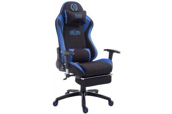 Racing Bürostuhl Shift Stoff mit Fußablage schwarz/blau