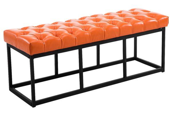 Sitzbank Amun Kunstleder B120 orange